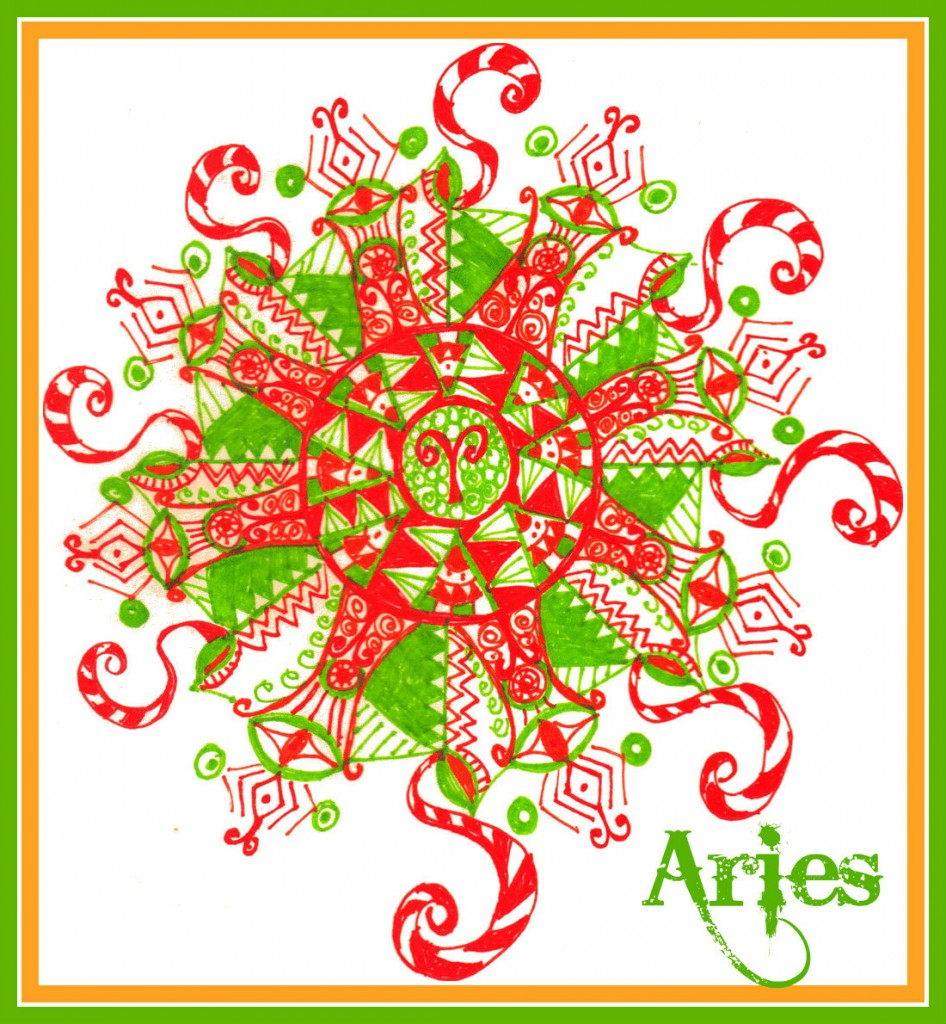 mandala art aries